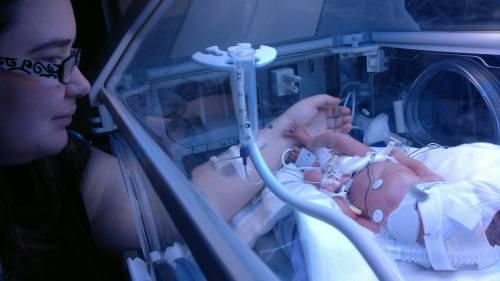 In her incubator